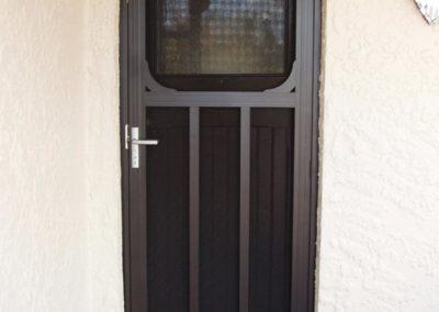 decorative front security door